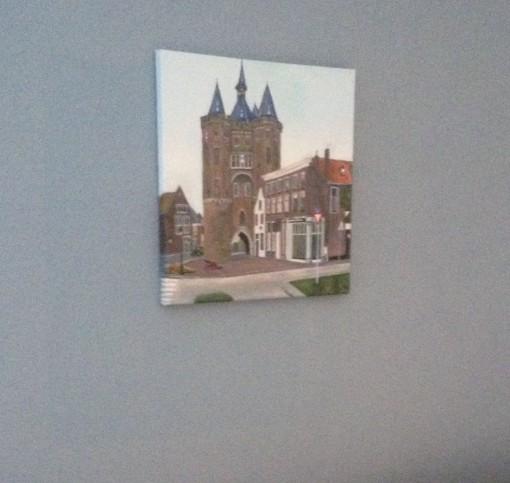 Schilderij Sassenpoort Zwolle
